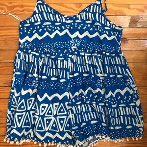 Blue/White Romper